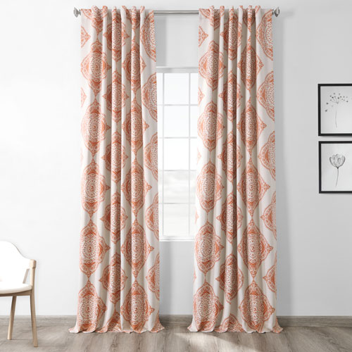 Henna Orange 50 x 96-Inch Blackout Curtain