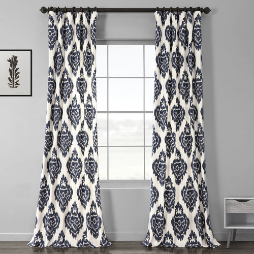 Ikat Multi 50 x 108-Inch Printed Curtain