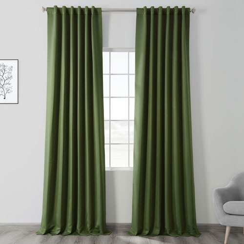 Tropical Green 96 x 50 In. Blackout Curtain Panel Pair