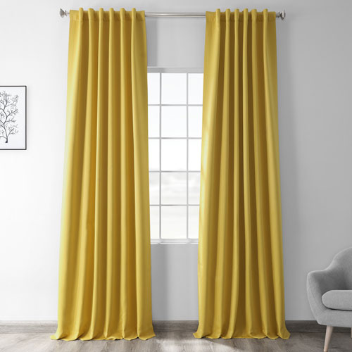 Solar Yellow 84 x 50 In. Blackout Curtain Panel Pair