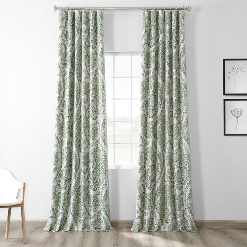 Tea Time Green 96 x 50-Inch Blackout Curtain Single Panel