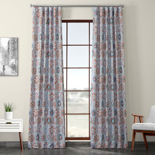 Multicolor Printed 108 x 50-Inch Polyester Blackout Curtain Single Panel