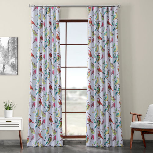 Multicolor Printed 96 x 50-Inch Polyester Blackout Curtain Single Panel