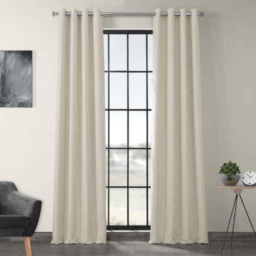 Ivory 120 x 50-Inch Polyester Blackout Curtain Single Panel