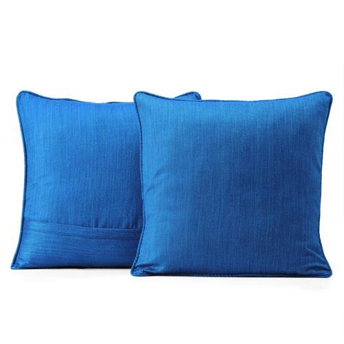 Designer Shantung Faux Silk Pillow Cover, Set of 2