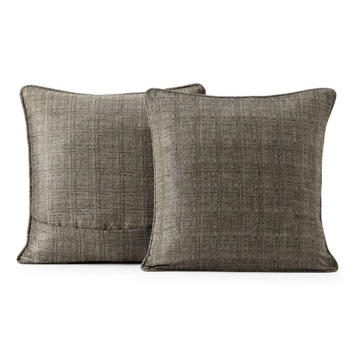 Yarn Dyed Designer Faux Raw Silk Pillow Cover, Set of 2