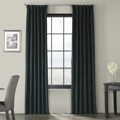 Green 96 x 50-Inch Polyester Blackout Curtain Single Panel