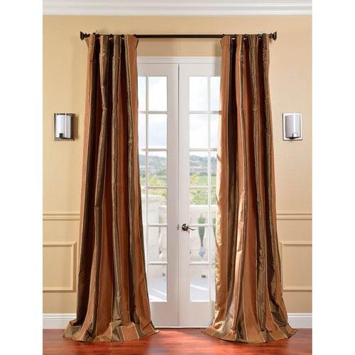 Windsor Multicolor 96 x 50-Inch Taffeta Silk Stripe Curtain Single Panel