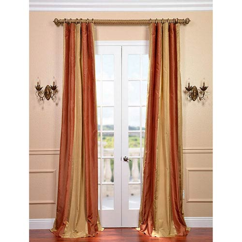 Somerset Multicolor 84 x 50-inch Silk Stripe Curtain Single Panel