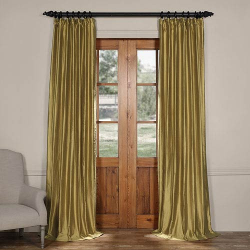 Exclusive Fabrics & Furnishings Collectors Gild Gold Cotton Silk Curtain-SAMPLE SWATCH ONLY