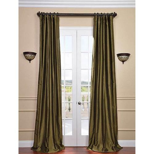 Sage Green 108 x 50-Inch Thai Silk Curtain Single Panel