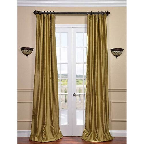 Gold Dust 120 x 50-Inch Thai Silk Curtain Single Panel