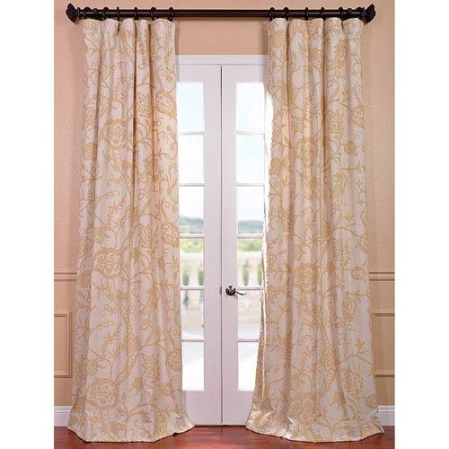 Lorraine Multicolor 120 x 50-Inch Embroidered Cotton Crewel Curtain Single Panel