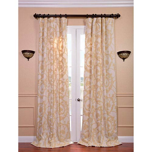 Naomi Multicolor 120 x 50-Inch Embroidered Cotton Crewel Curtain Single Panel