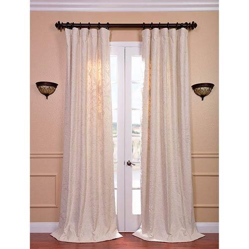 Aurora Multicolor 120 x 50-Inch Embroidered Cotton Crewel Curtain Single Panel