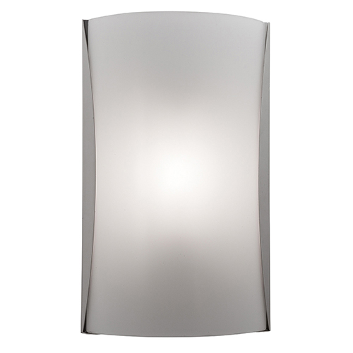Access Lighting Radon Brushed Steel One-Light Sconce with Opal Glass