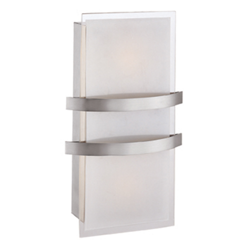 Access Lighting Metro Brushed Steel 8.5-Inch Wide LED Wall Sconce