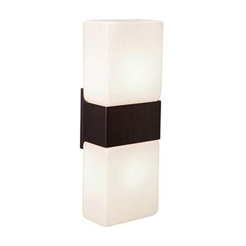 Access Lighting Nitros Bronze Two-Light Wall Sconce with Opal Shade