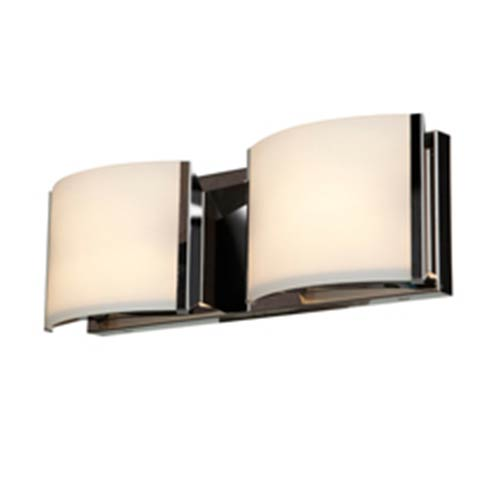 Nitro 2 Brushed Steel Two-Light 16-Inch Wide Bath Vanity Fixture
