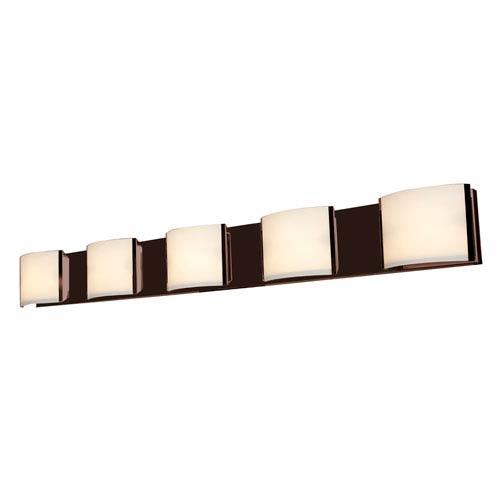 Nitro2 Bronze Five-Light LED Vanity