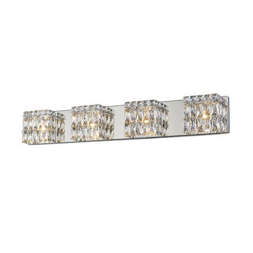 Access Lighting Magari Chrome Four-Light LED Bath Bar Vanity