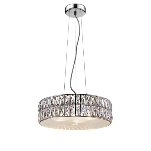 Magari Mirrored Stainless Steel 15-Inch LED Pendant