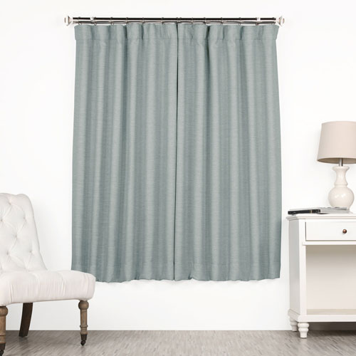 Rose Street Gulf Blue 63 x 50 In. Blackout Curtain Single Panel