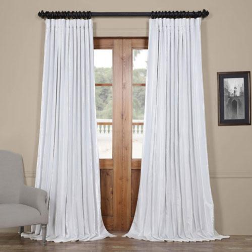 Rose Street Light White Blackout Extra Wide 108 x 100 In. Faux Silk Taffeta Curtain Single Panel