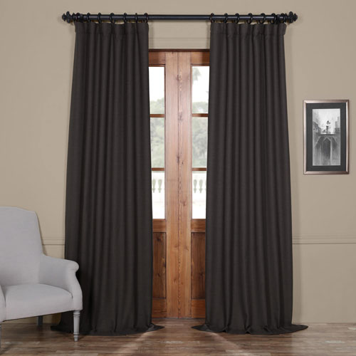 Rose Street Smoked Grey 120 x 50 In. Blackout Curtain Panel