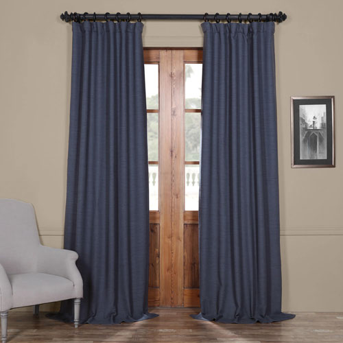 Rose Street Wild Blue 84 x 50 In. Blackout Curtain Panel