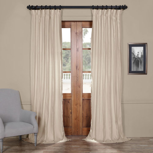 Rose Street French Grey 84 x 50 In. Linen Curtain Panel