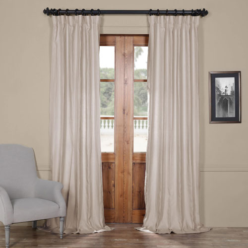 Rose Street French Khaki 96 x 50 In. Linen Curtain Panel