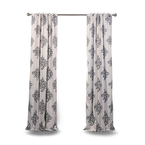 Black 96 x 50 In. Blackout Curtain