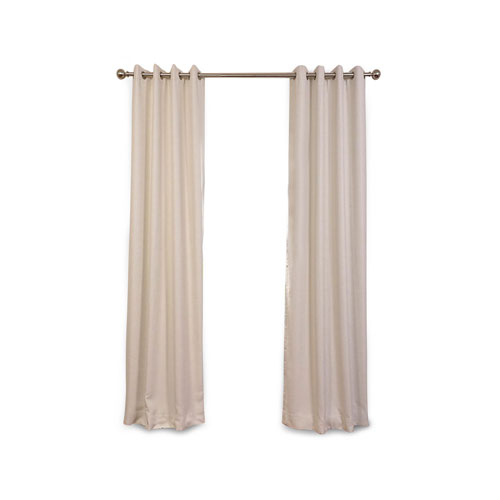 Rose Street Cottage White 120 x 50 In. Blackout Curtain