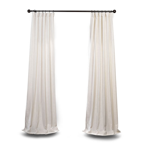 Ivory 120 x 50 In. Curtain Single Panel