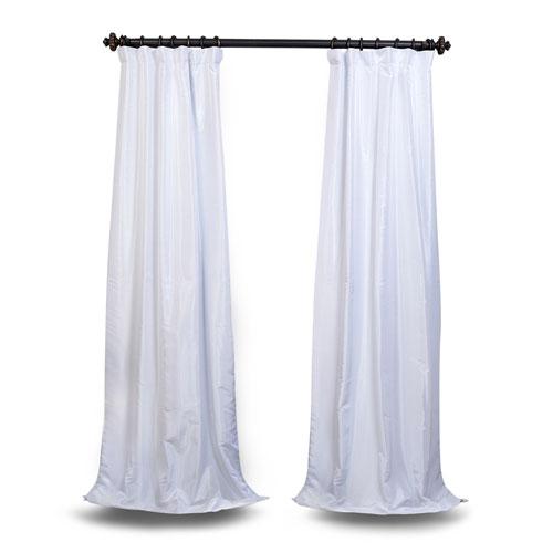 White 84 x 50 In. Blackout Vintage Textured Faux Dupioni Silk Curtain