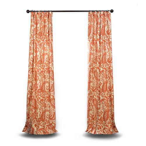 Rose Street Rust Printed Cotton Curtain Sample Swatch