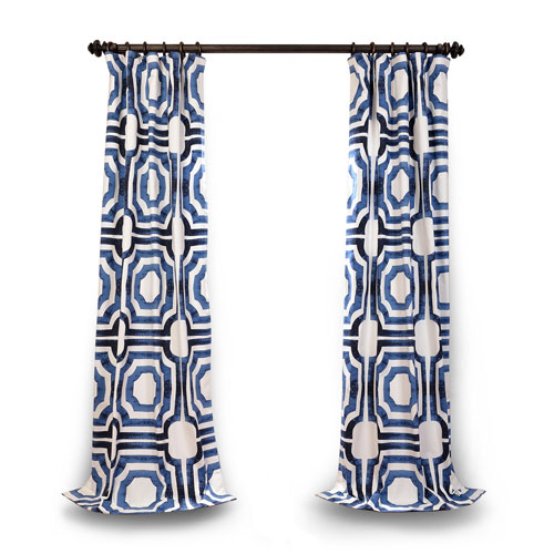 Blue 108 x 50 In. Curtain Single Panel