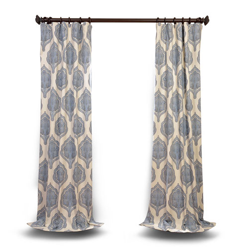 Rose Street Blue 84 x 50 In. Curtain Single Panel