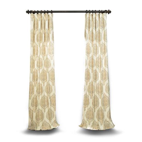 Rose Street Tan Printed Cotton Twill Curtain Sample Swatch
