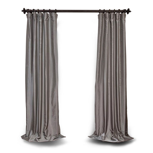 Platinum 108 x 50 In. Blackout Faux Silk Taffeta Curtain Single Panel
