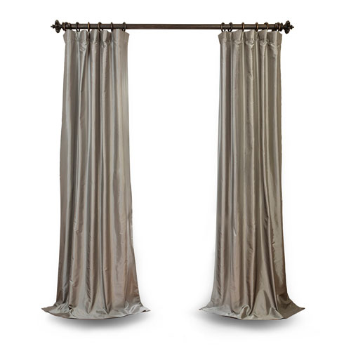 Platinum 84 x 50 In. Faux Silk Taffeta Single Panel Curtain