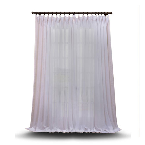 Double Layered White 100 x 96 In. Sheer Curtain