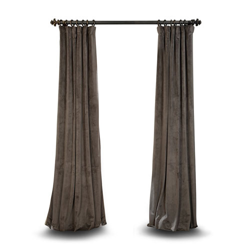 Rose Street Gray 96 x 50 In. Blackout Curtain Single Panel