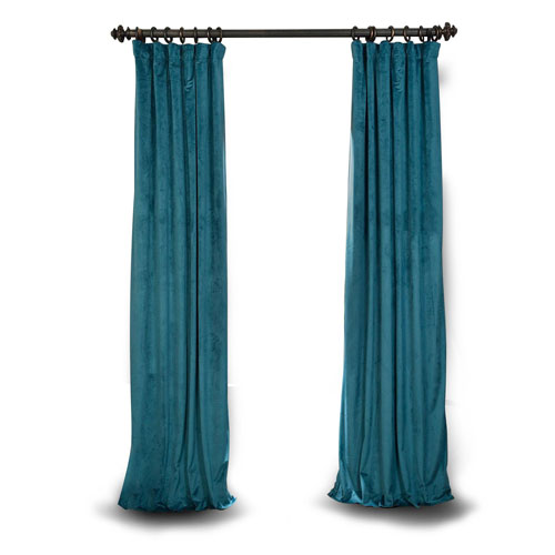 Rose Street Teal 120 x 50 In. Blackout Curtain Single Panel