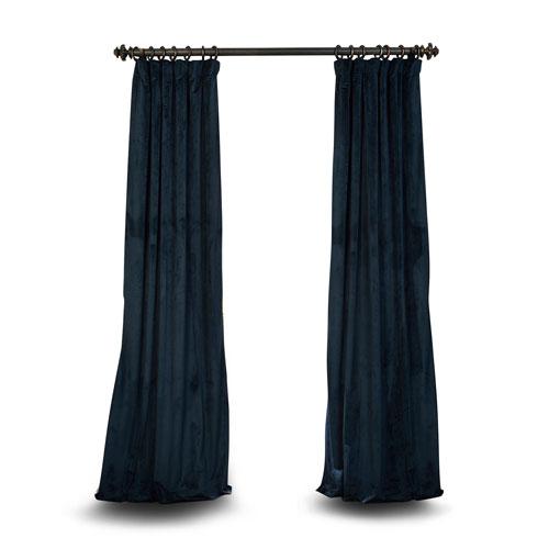 Blue 120 x 50 In. Blackout Velvet Pole Pocket Single Panel Curtain
