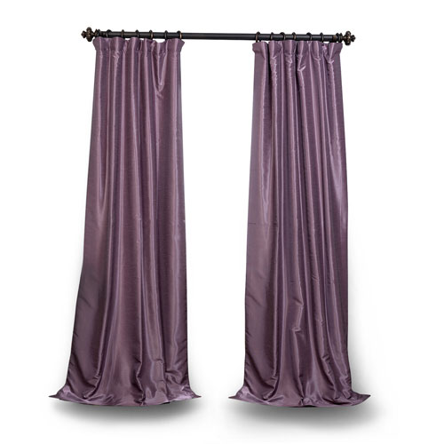 Smokey Purple 96 x 50 In. Vintage Textured Grommet Blackout Curtain Single Panel