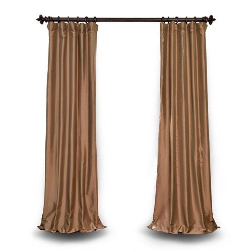 Gold 120 x 50 In. Blackout Faux Silk Taffeta Curtain Single Panel