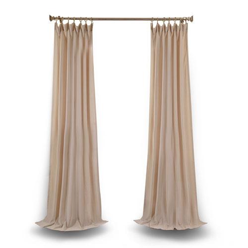 Rose Street Tumbleweed 108 x 50 In. Faux Linen Sheer Single Curtain Panel