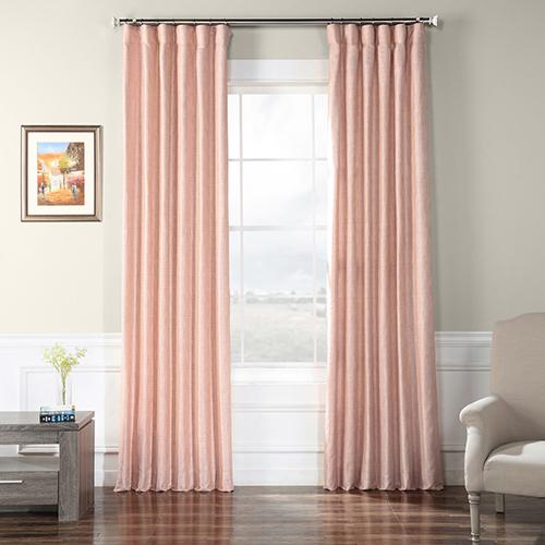 Faux Raw Silk Rosey Finch 108 x 50-Inch Curtain Single Panel